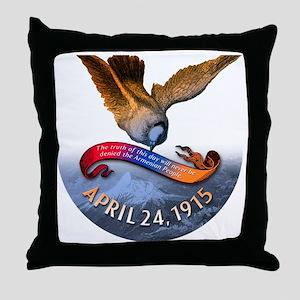 ZA_4.24.1915button4x Throw Pillow