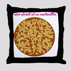 Staphylococcus aureus Throw Pillow