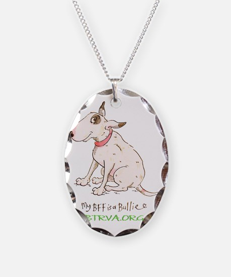 My BFF large Necklace Oval Charm