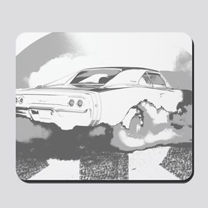 charger dark shirt2 Mousepad