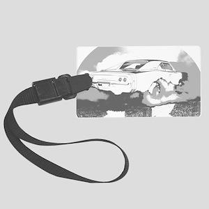 charger dark shirt2 Large Luggage Tag