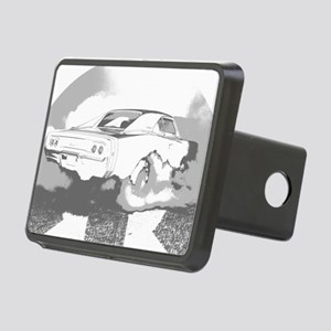 charger dark shirt2 Rectangular Hitch Cover