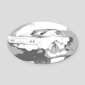 charger dark shirt2 Oval Car Magnet