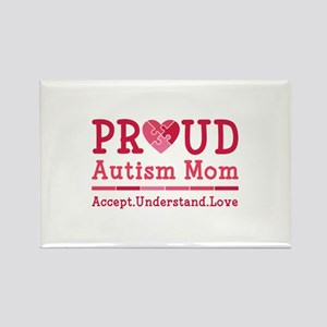 Proud Autism Mom Rectangle Magnet