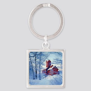 The Old Red Mill  Square Keychain