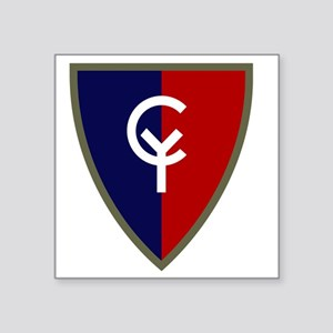 "38th Infantry Division Square Sticker 3"" x 3"""