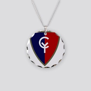 38th Infantry Division Necklace Circle Charm