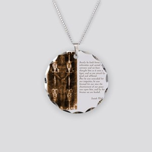 Isaiah 53-4-5 Necklace Circle Charm