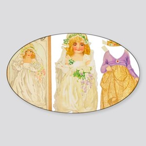 paper-doll-sleeping-beauty-poster-1 Sticker (Oval)