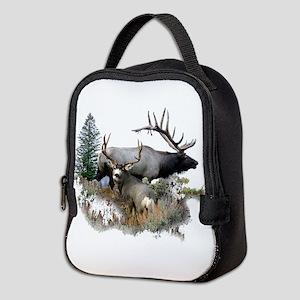 Buck deer bull elk Neoprene Lunch Bag