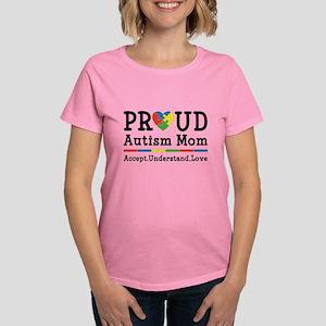 Proud Autism Mom Women's Dark T-Shirt
