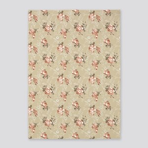 Victorian Rose Pattern 5'x7'area Rug