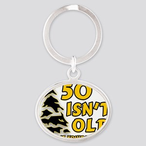 50 Isnt old Birthday Oval Keychain