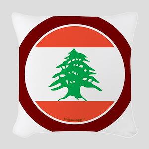 btn-flag-lebanon Woven Throw Pillow
