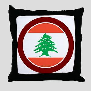 btn-flag-lebanon Throw Pillow