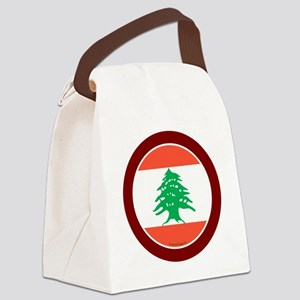 btn-flag-lebanon Canvas Lunch Bag