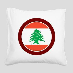 btn-flag-lebanon Square Canvas Pillow