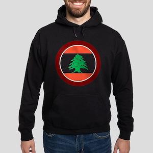 btn-flag-lebanon Hoodie (dark)