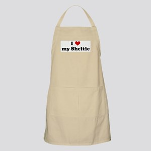 I Love my Sheltie BBQ Apron