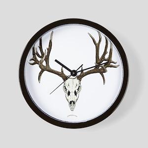 Mule deer skull mnt. Wall Clock