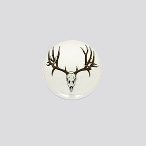 Mule deer skull mnt. Mini Button