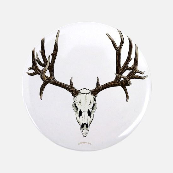 "Mule deer skull mnt. 3.5"" Button"