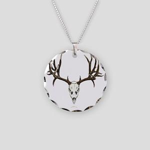 Mule deer skull mnt. Necklace Circle Charm