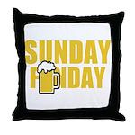 Sunday Funday Throw Pillow