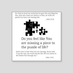 """TSHIRT11b Square Sticker 3"""" x 3"""""""