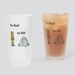 You Rock, You Rule Drinking Glass