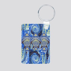 1Greetings from outer spac Aluminum Photo Keychain