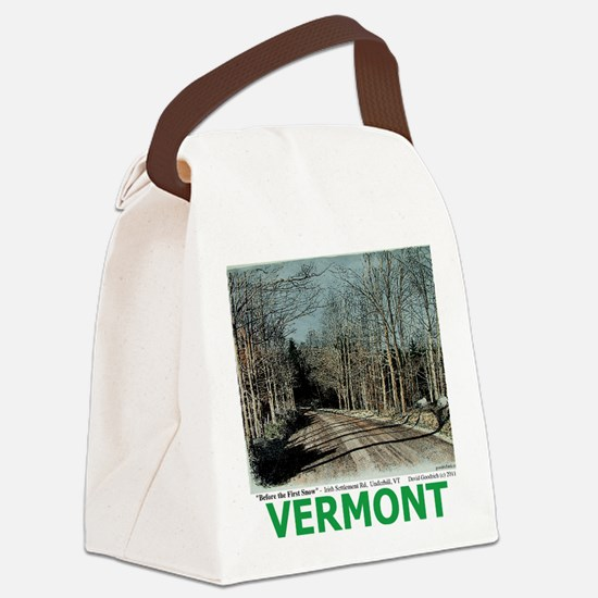 Roadcolor with text Canvas Lunch Bag
