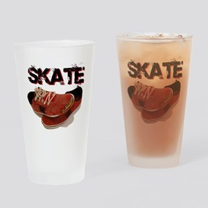 Skate Shoes Cartoon Drinking Glass
