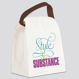 Copy Editors—Style  Substance Canvas Lunch Bag