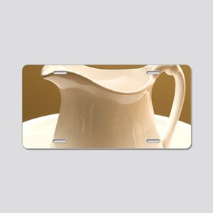 Pitcher and Bowl Aluminum License Plate