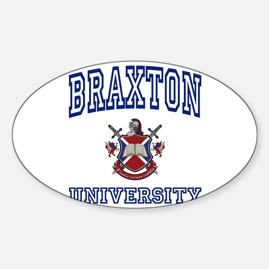 BRAXTON University Oval Decal