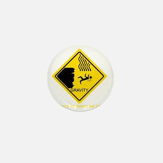 Gravity-Yellow Mini Button