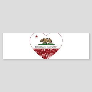 california flag long beach heart distressed Bumper