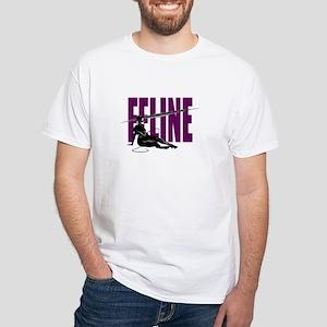 Feline White T-Shirt
