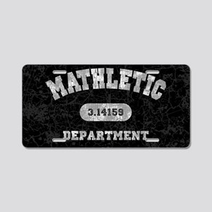 math-dept-OV Aluminum License Plate