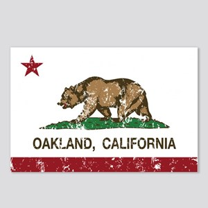 california flag oakland distressed Postcards (Pack