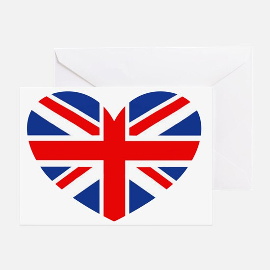 british heart Greeting Card