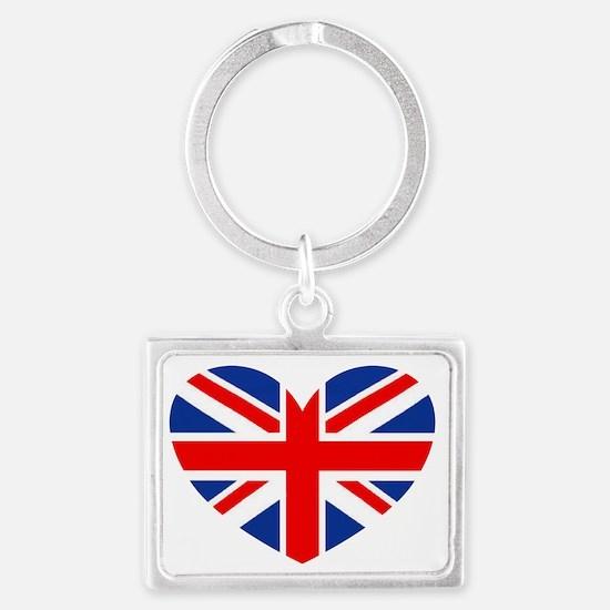 british heart Landscape Keychain