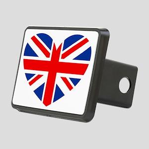 british heart Rectangular Hitch Cover