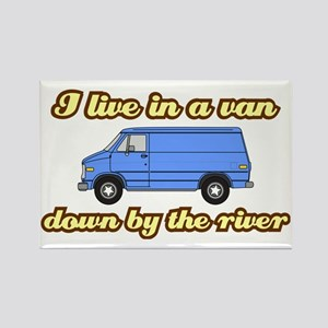 I-live-in-a-van-(white-shirt) Rectangle Magnet
