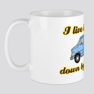 I-live-in-a-van-(dark-shirt) Mug