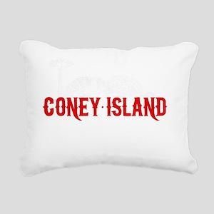 coney_island-nyc4black Rectangular Canvas Pillow