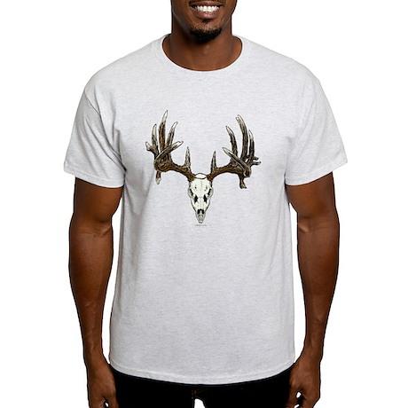 whitetail deer skull, illustration Light T-Shirt