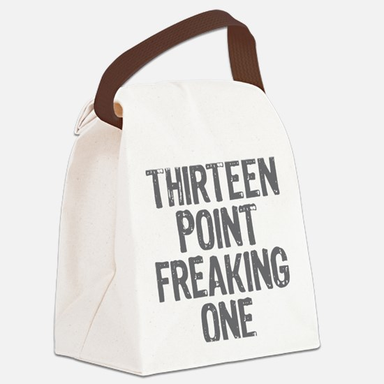 thirteen point freaking one gray Canvas Lunch Bag