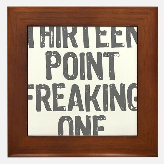 thirteen point freaking one gray Framed Tile